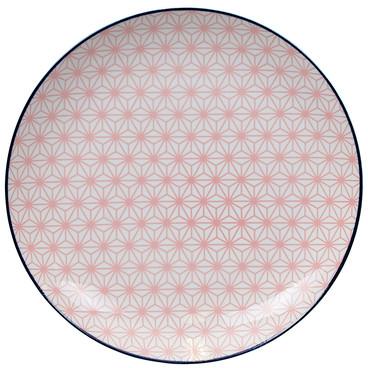 Tokyo Design Studio Starwave Dinner Plate - Star - Pink/Dark Blue at Amara