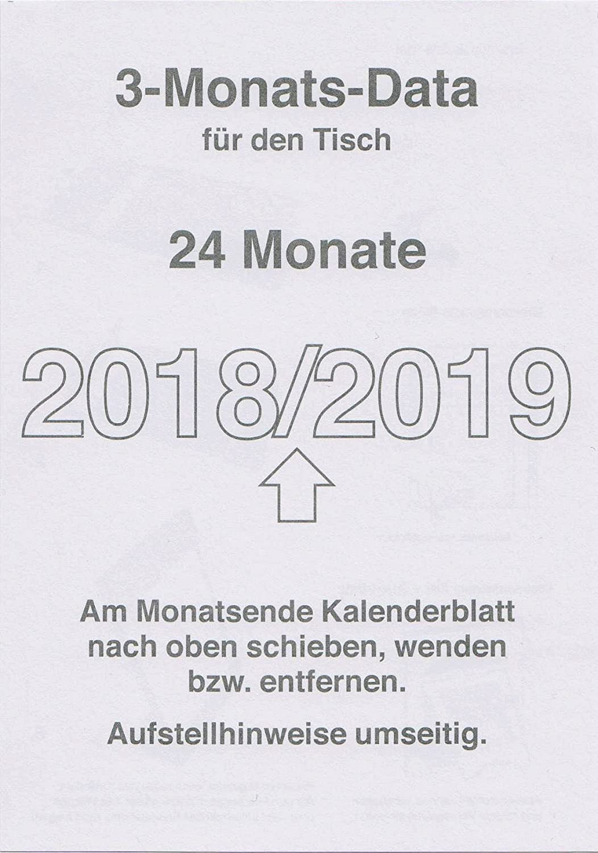 weiß 3-Monate Tischaufstellkalender 2020-2021 Tischaufsteller Farbe
