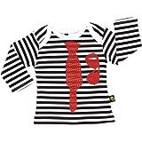 Rockabye-Unisex Baby Tie Tee Long Sleeve T-Shirt (Black/White)