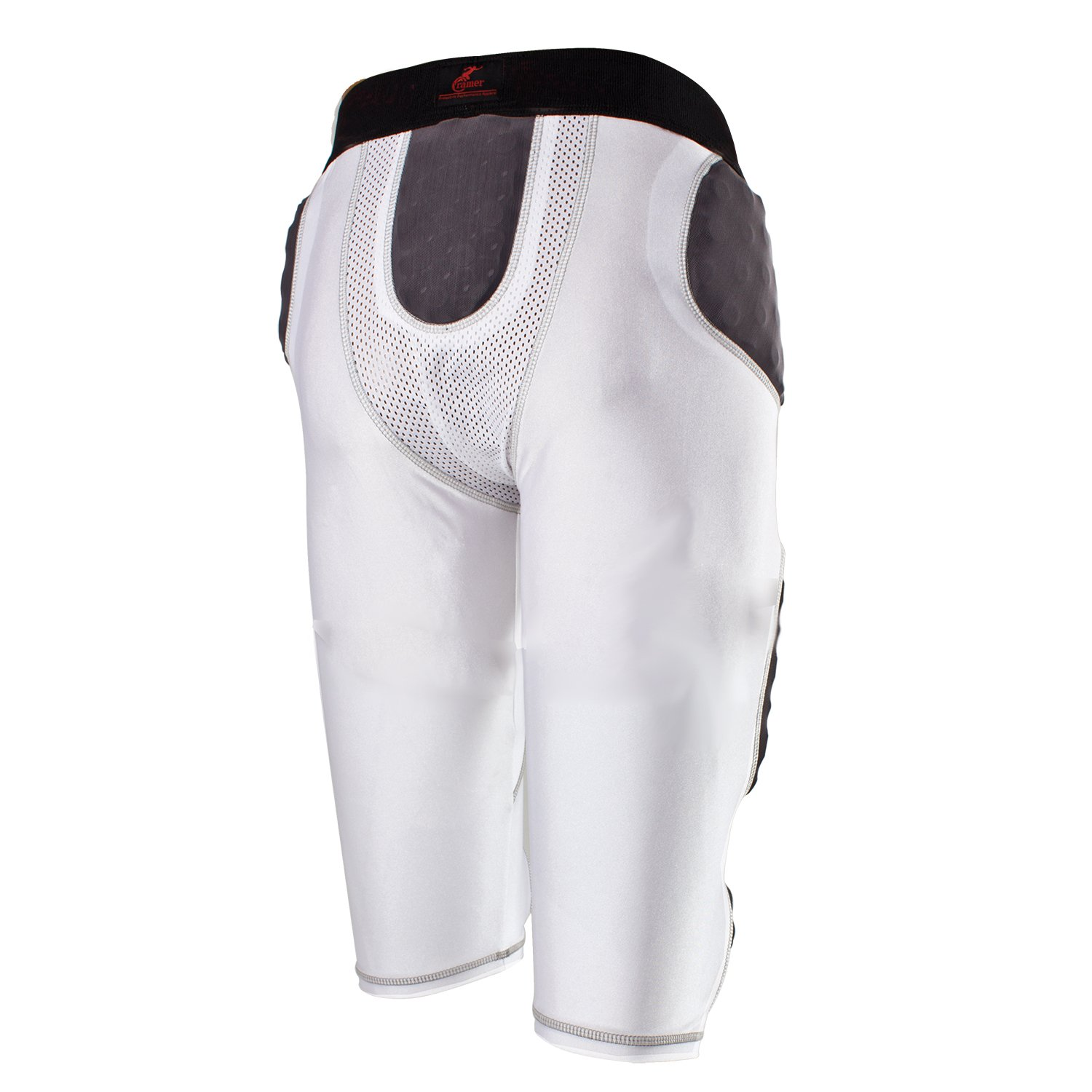 Cramer Lightning 7 Pad Football Girdle With Integrated Hip, Tailbone and Thigh Pads, Anti-Bacterial and Moisture-Wicking Fabric, Great Protection Without Impeding Athletic Performance, White, X-Large by Cramer (Image #3)