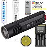 Bundle: Nitecore EC4S 2150 Lumens CREE XHP50 LED Flashlight Die-cast Handheld Searchlight by 2PCs E35 3500mAh EASTSHINE 18650 Protected Batteries Nitecore D2 Charger Car Adapter EB182 Battery Case
