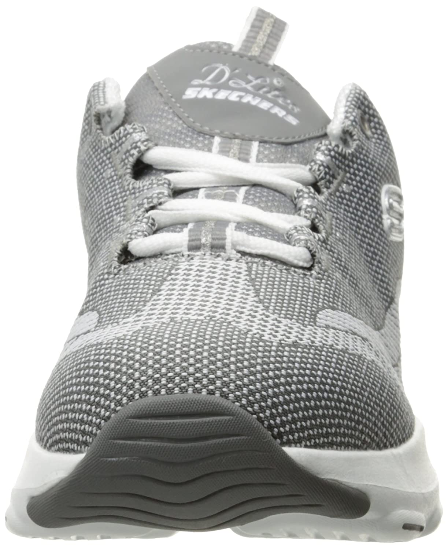 Skechers Women's Dlite Ultra Sneaker B01N1YQCUP 5.5 B(M) US|Gray White