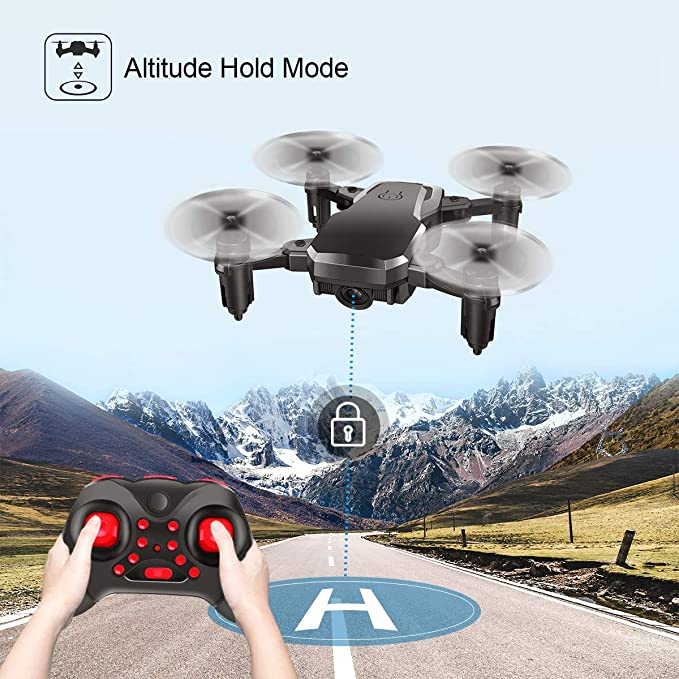 Mini Quadcopter Drone, Conthfut C16 RC Nano Quadcopter for Kids and  Beginners - 2 4G 6-Axis with Altitude Hold Function, Headless Mode, 3D Flip  and