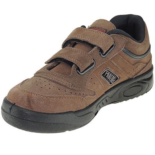 Paredes 3092 Zapatilla Deportiva Piel Serraje Velcro Piso Cámara para Hombre: Amazon.es: Zapatos y complementos