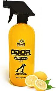 Lots of Lemon Professional Strength Lemon Powered 24 oz Pet Odor Eliminator Spray - Carpet Deodorizer & Urine Pee Remover for Dogs, Cats and Pets - Home or Car