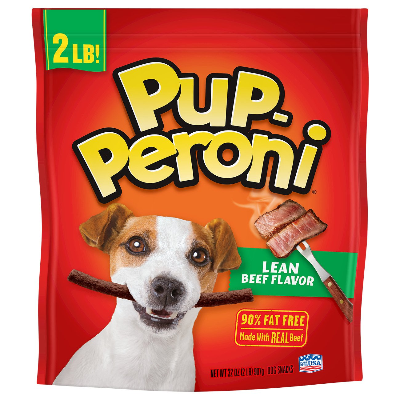 32-ounce Pup-Peroni Lean Beef Flavor Dog Treats, 32 Ounce
