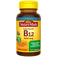 Nature Made Sublingual Vitamin B12 3000 mcg Micro-Lozenges, 40 Count (Packaging...