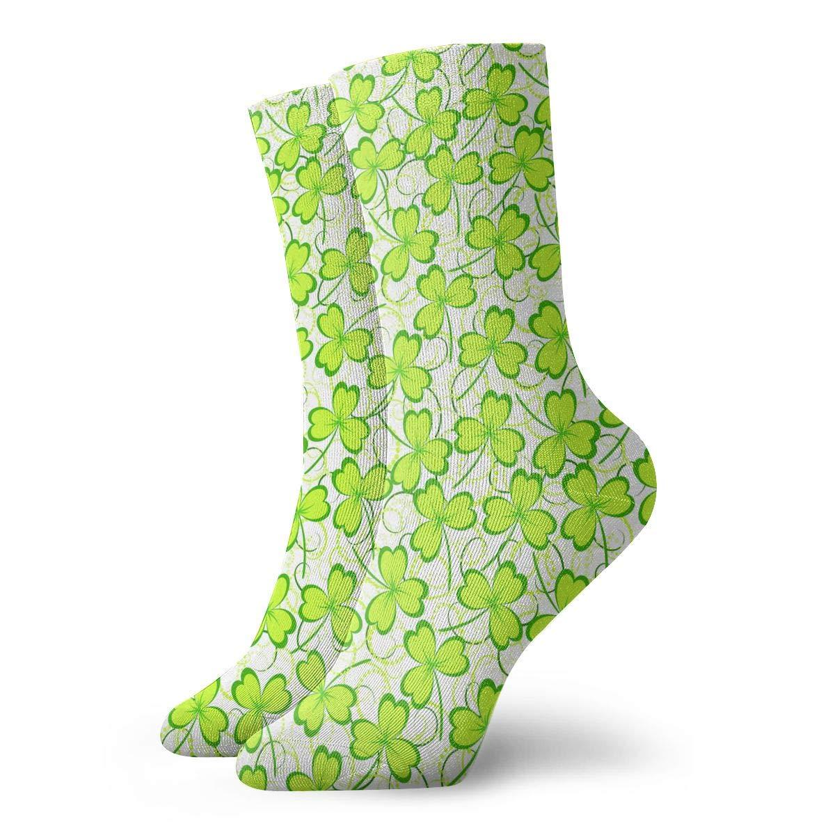 Unisex Happy Green Saint Patricks Day Athletic Quarter Ankle Print Breathable Hiking Running Socks