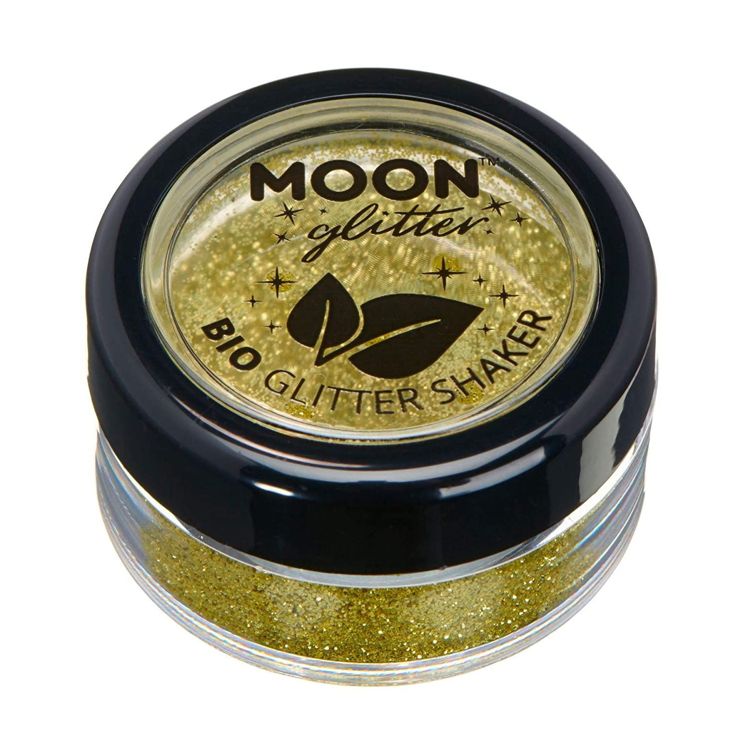Biodegradable Eco Glitter Shakers by Moon Glitter - 100% Cosmetic Bio Glitter for Face, Body, Nails, Hair and Lips - 5g - Green