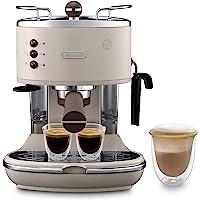 De'Longhi Icona Vintage Espresso Siebträgermaschine ECOV311.BG - mit professioneller Milchaufschäumdüse, 15 bar, 1,4 l…