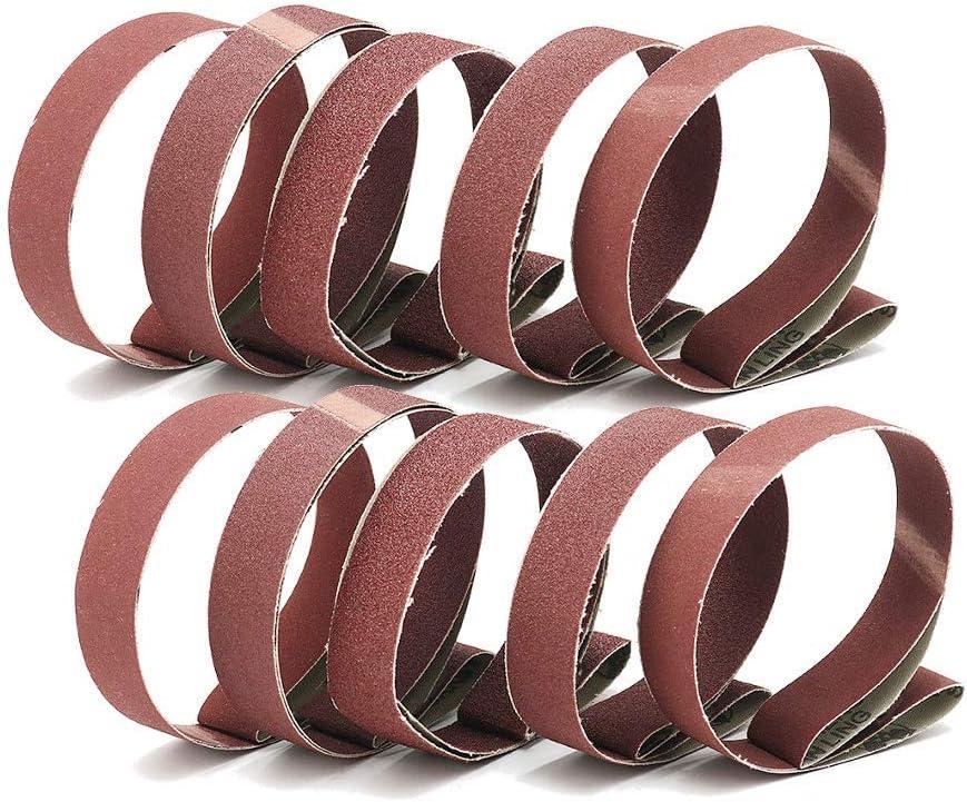 12tlg Schleifbänder 25x760mm Schleifband Bandschleifer 400 600 800 1000 Körnung