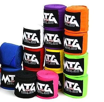 /negro Muay Thai MMA boxeo Kickboxing MTG Pro 2,5/m el/ástico vendas/
