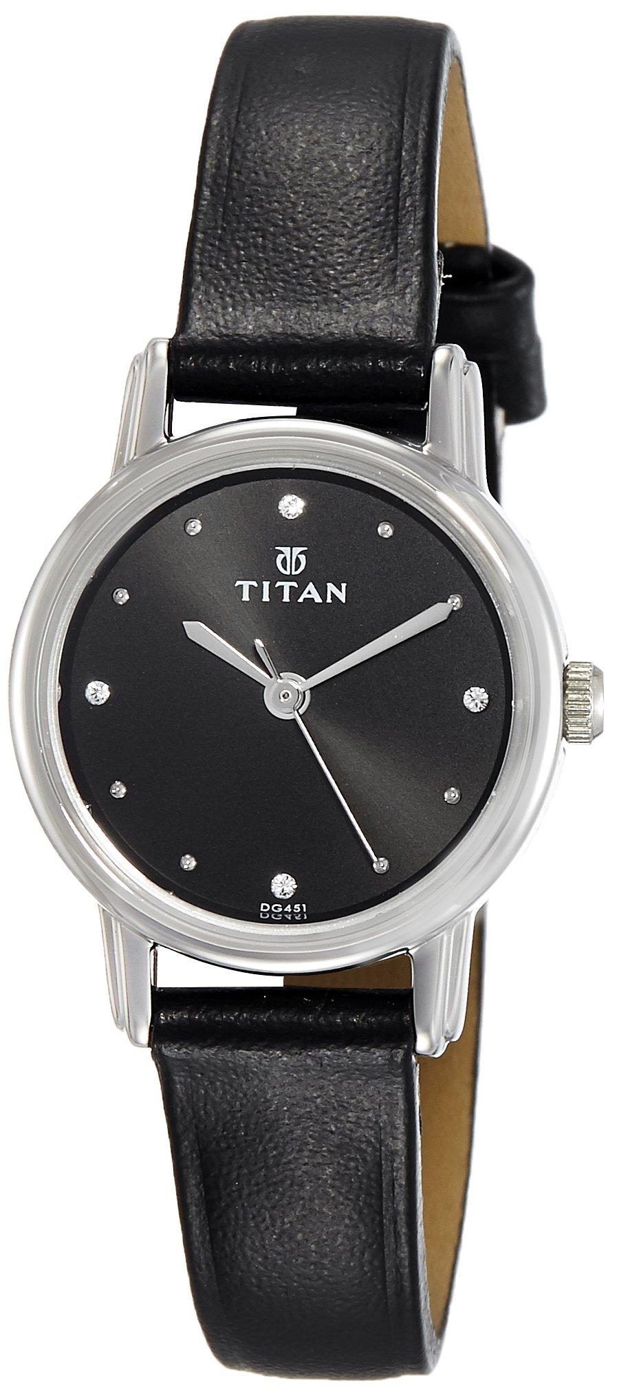 Titan Analog Black Dial Women's Watch-NK2572SL01 (B0727VFM6Q) Amazon Price History, Amazon Price Tracker