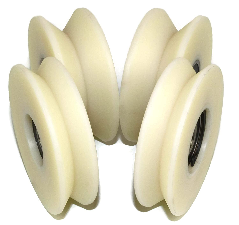 Lot de 4/roues de poulie en nylon Polyamide avec 90//° V Groove portail coulissant de roue fabriqu/é en Union Europ/éenne V80/–20/–10