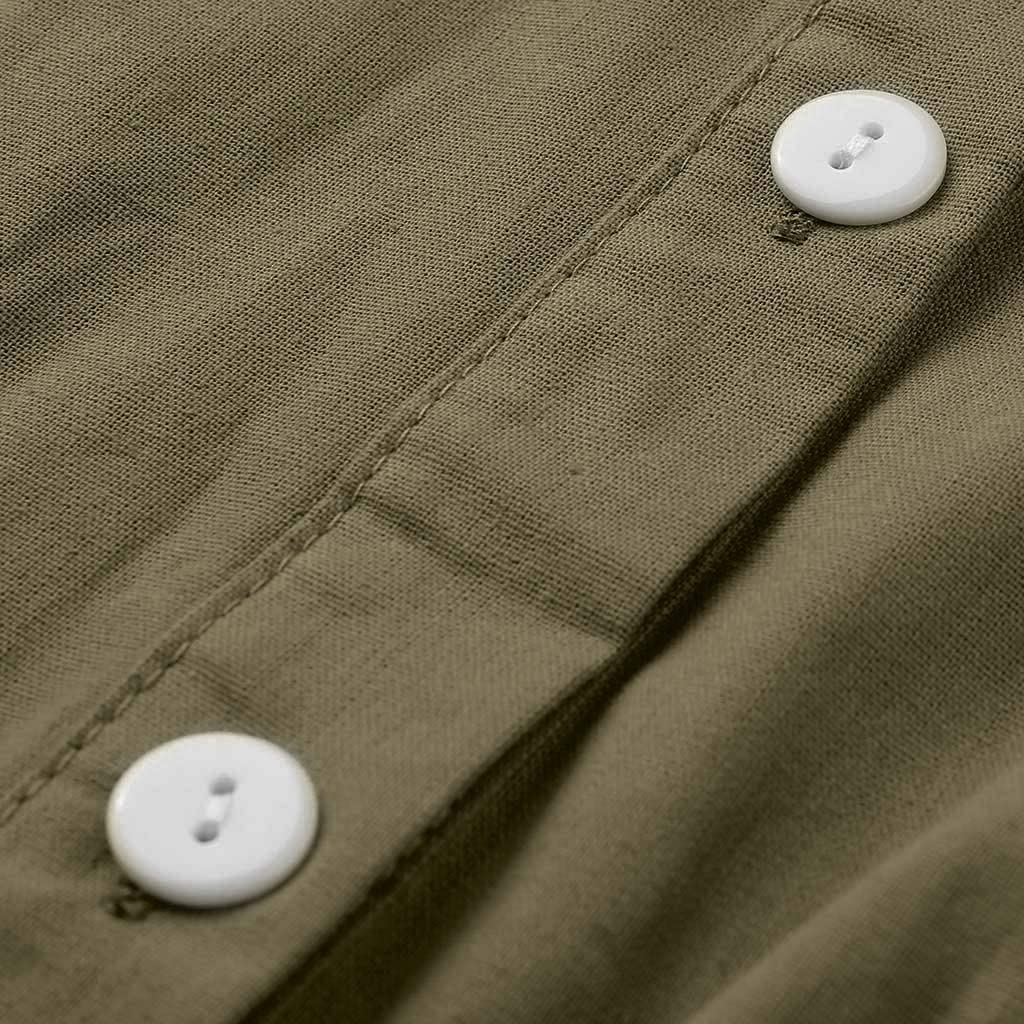 Kiyotoo Plus Size Cotton Linen Asymmetric Lapel Button Shirt,Womens Loose Outerwear Casual Cardigan Blouse with Pocket