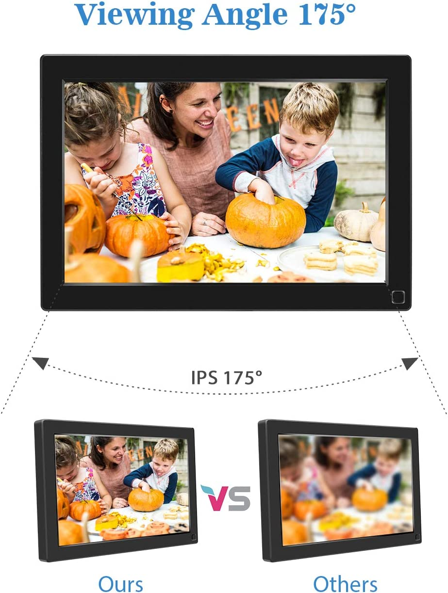 BSIMB Digital Photo Frame 10.1 Inch Digital Picture Frame 1280×800 IPS Screen Electronic Photo Frame with Motion Sensor Auto Rotate Music Video Playback Remote Control M10