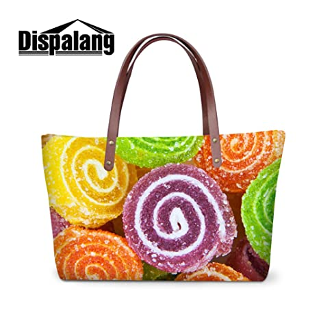 84a13d2c51f4 Image Unavailable. Image not available for. Color  Generic Food Candy 3D  Print Series Large Shoulder ...