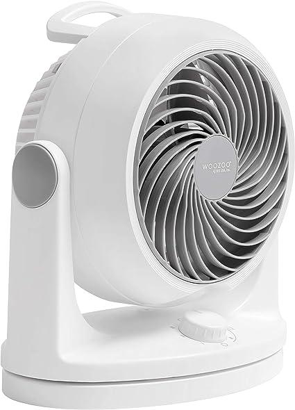 Iris Ohyama 24,1 x 17,5 x 26,6cm HD15N Ventilateur silencieux de Bureau Plastique Blanc Woozoo 34 W 13 m/²