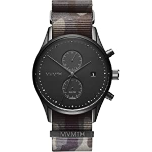 MVMT Voyager Watches | 42 MM Mens Analog Watch | Nylon Wristband