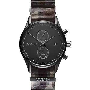 MVMT Voyager Watches | 42 MM Mens Analog Watch | Nylon Wristband