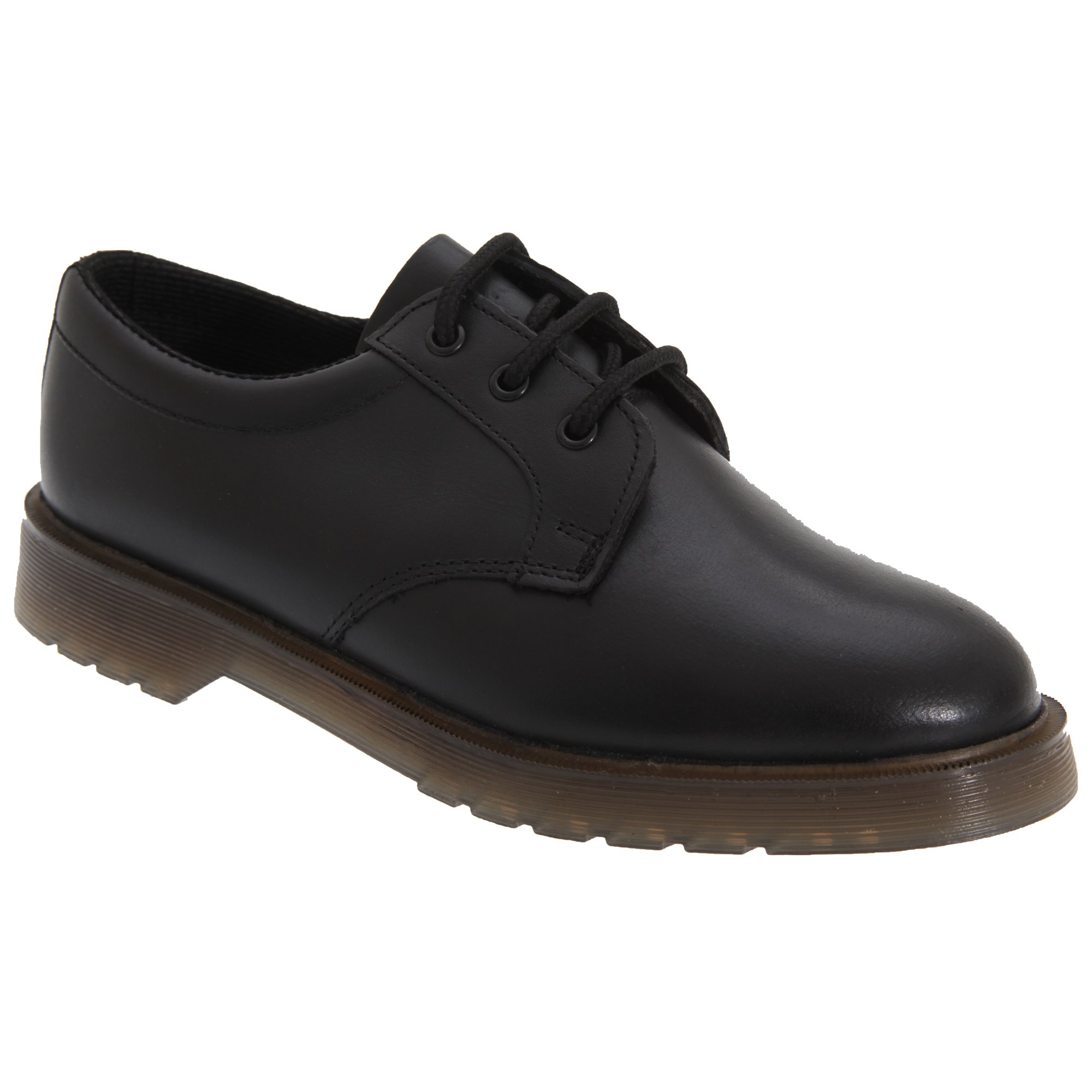 Grafters Mens Smooth Leather Uniform Shoes with Air Cushioned Sole (11 US) (Black) by Grafters