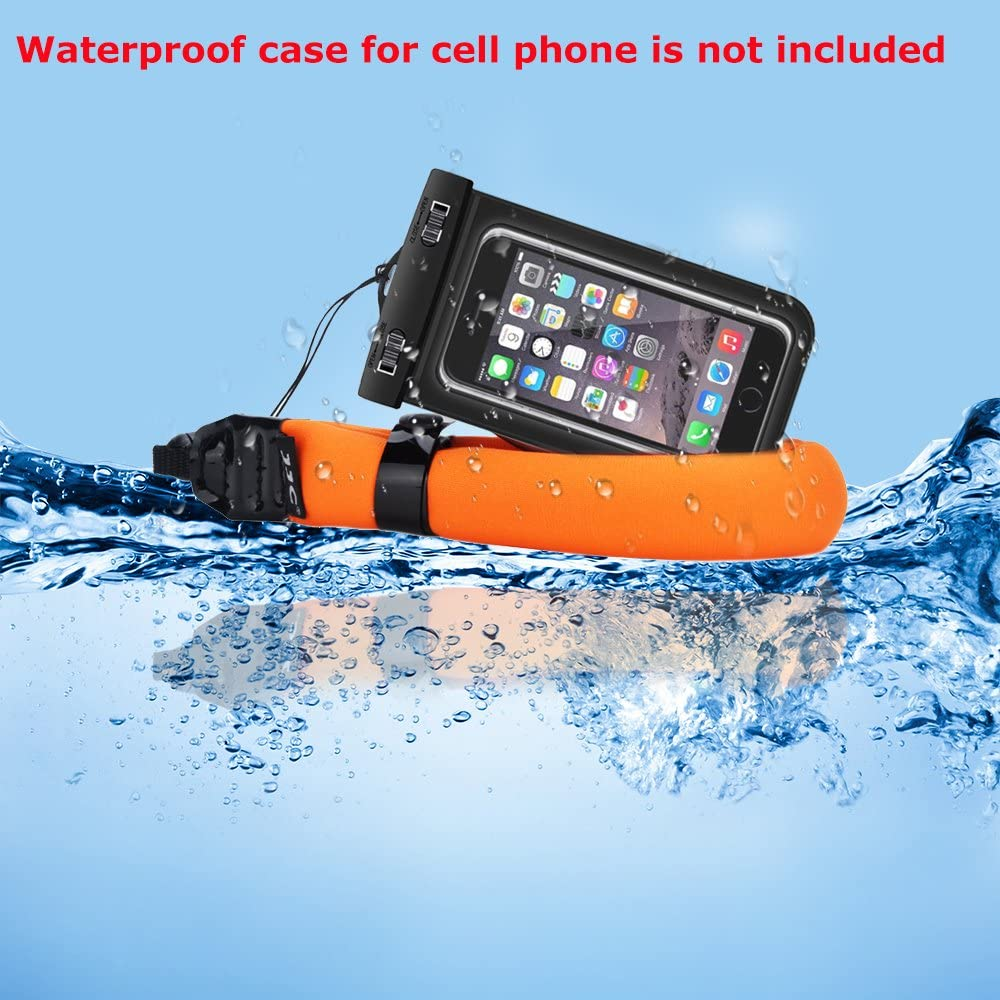 JJC Waterproof Camera Float Strap Cell Phone Float Strap Compatible with Olympus TG-6 TG-5 TG-4 Nikon W300 W100 Canon D30 Fuji XP140 XP130 XP90 XP80 Smartphone iPhone Samsung Inside Waterproof Case