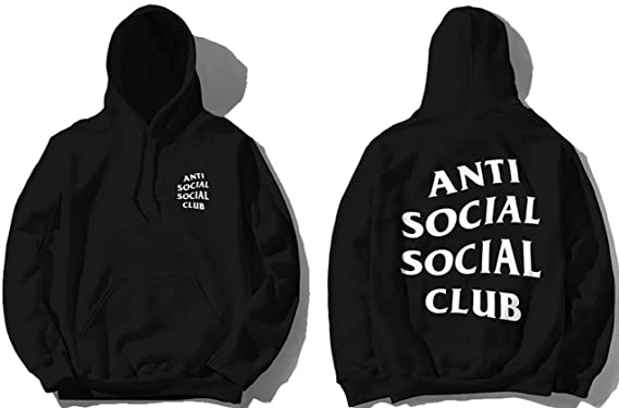 Anti Social Club Hoodie Black As Worn By Kanye West Yeezy Medium