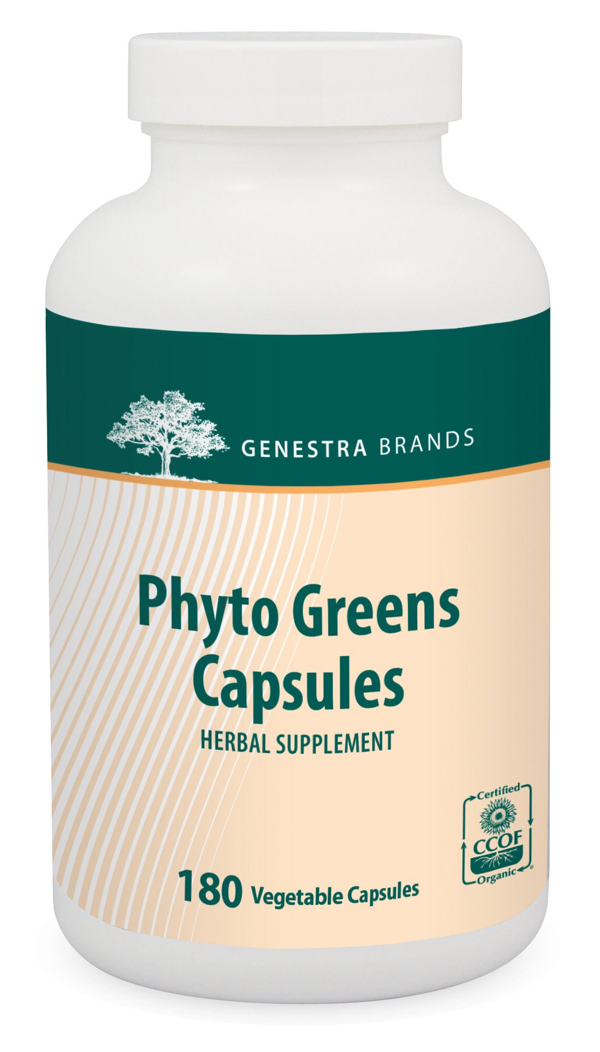 Genestra Brands - Phyto Greens Capsules - Vitamins, Dietary Fiber and Enzymes for Optimum Nutrition* - 180 Vegetable Capsules