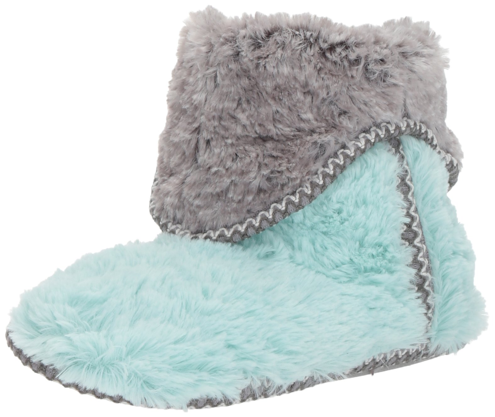 Dearfoams Women's Pile Foldown Boot, Wintermint, XL Medium US