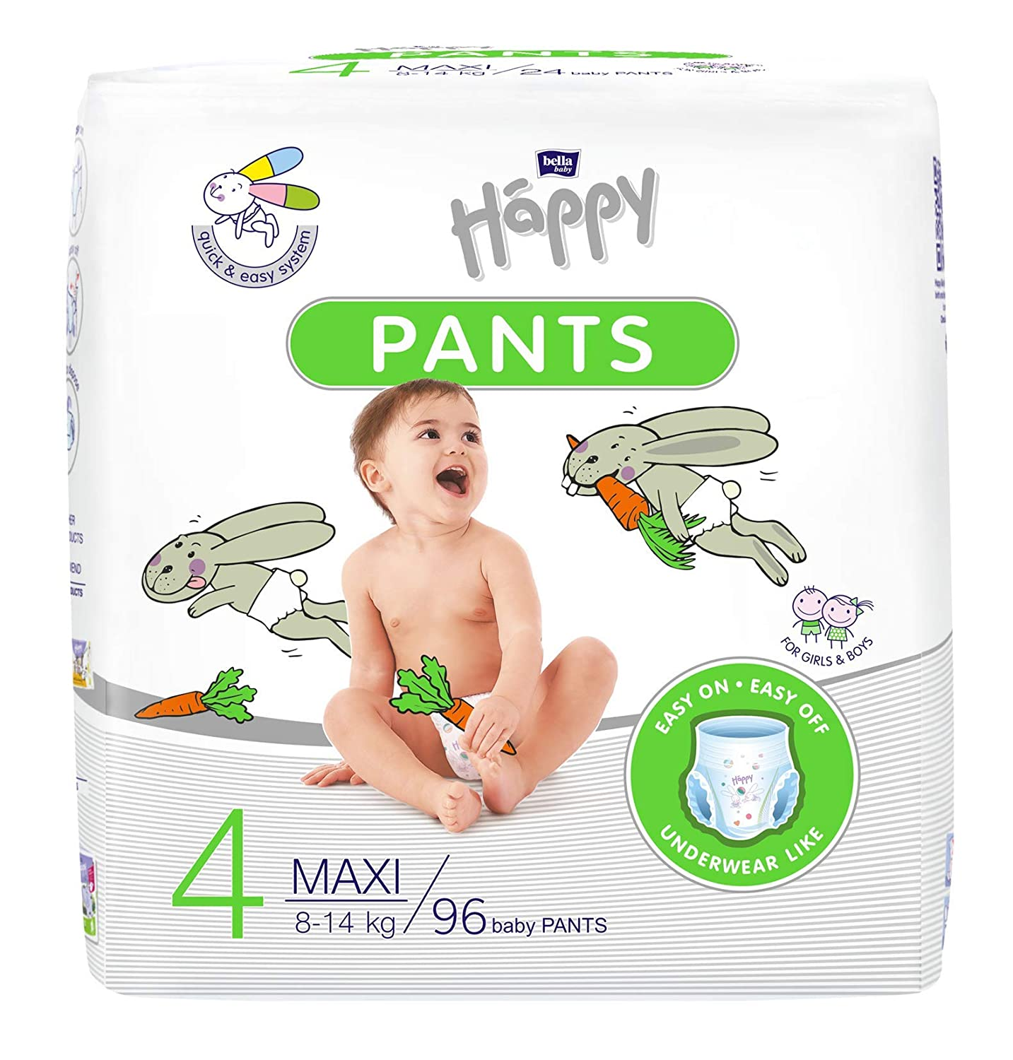 Ideal Beim T/öpfchentraining Bella Baby Happy Pants Gr.5 Junior : H/öschenwindeln F/ür Kinder 11-18 Kg 4 X 22 St/ück 4er Pack