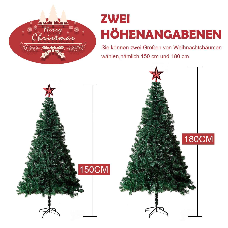 Eforink Árbol de Navidad Natural Verde Artificial, Modelo PINO, 150 ...