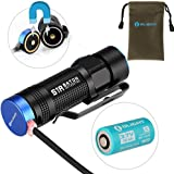 Olight® S1R Baton Rechargeable LED Torch Flashlight EDC With Turbo and Turbo S, Side-switch Torches, Customized 550mAh RCR123A Battery included Outdoor Gear