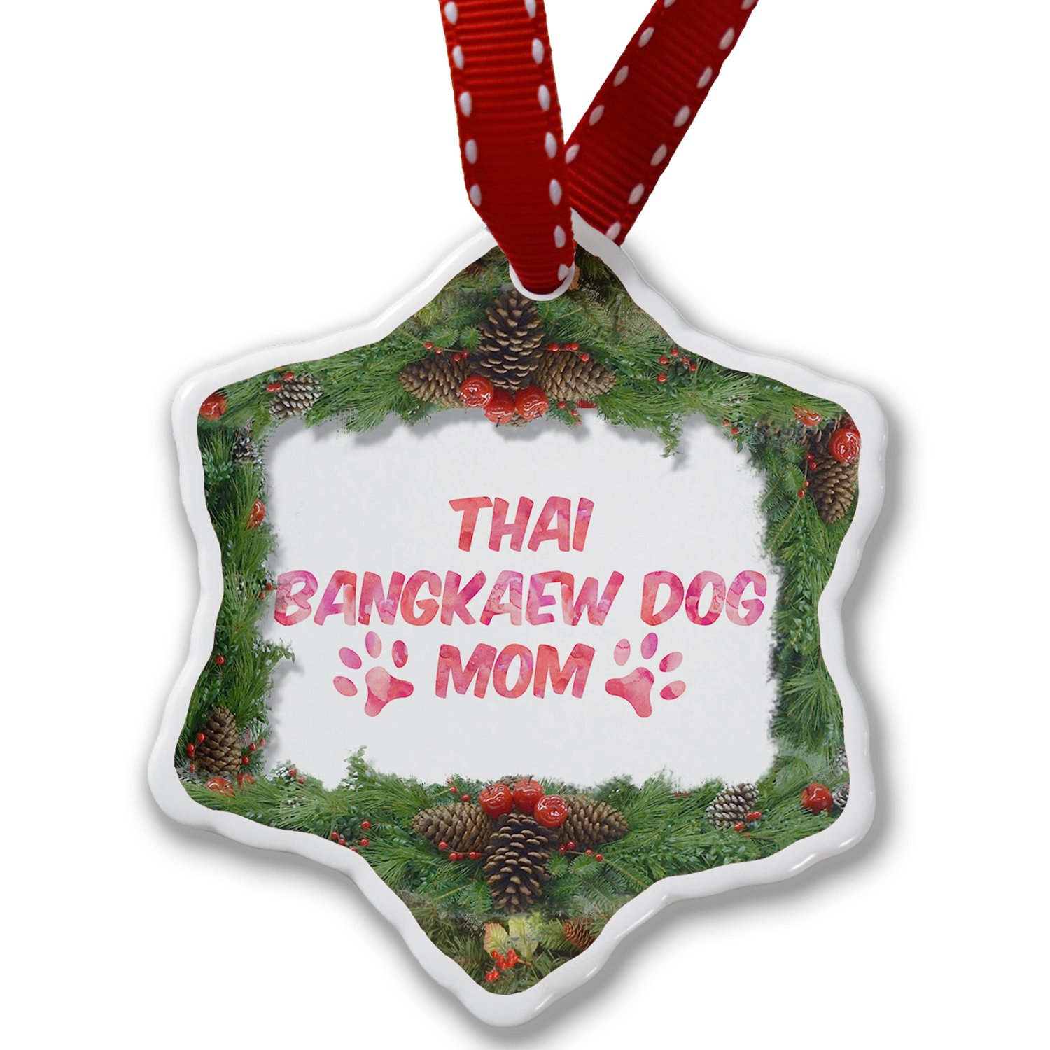 Christmas Ornament Dog & Cat Mom Thai Bangkaew Dog - Neonblond by NEONBLOND