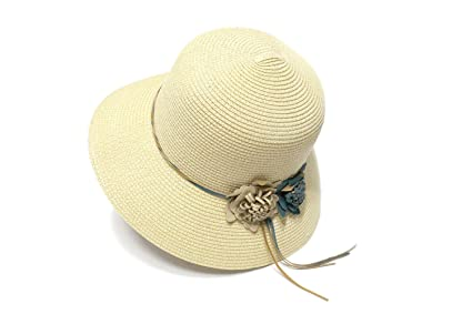 Amazon.com  Yaojiaju Summer Straw Hats 35e4c7ce067