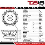 DS18 PRO-EXL104 Midrange 4 Ω Loudspeaker 600W Rms, 1000 W Max Power - Set of