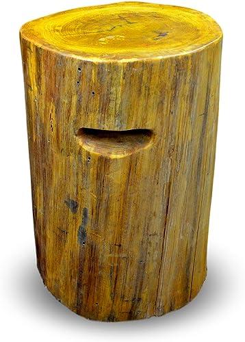 Festcool Tree Stump Stool Coffee Table Bar Stool Sofa Table Side End Table Solid Wood Natural Finish 19 Tall 19