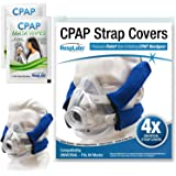 RespLabs CPAP Headgear Strap Covers — Universal Mask Pads | Extremely Comfortable Soft Fleece Cushion [4 Pack]