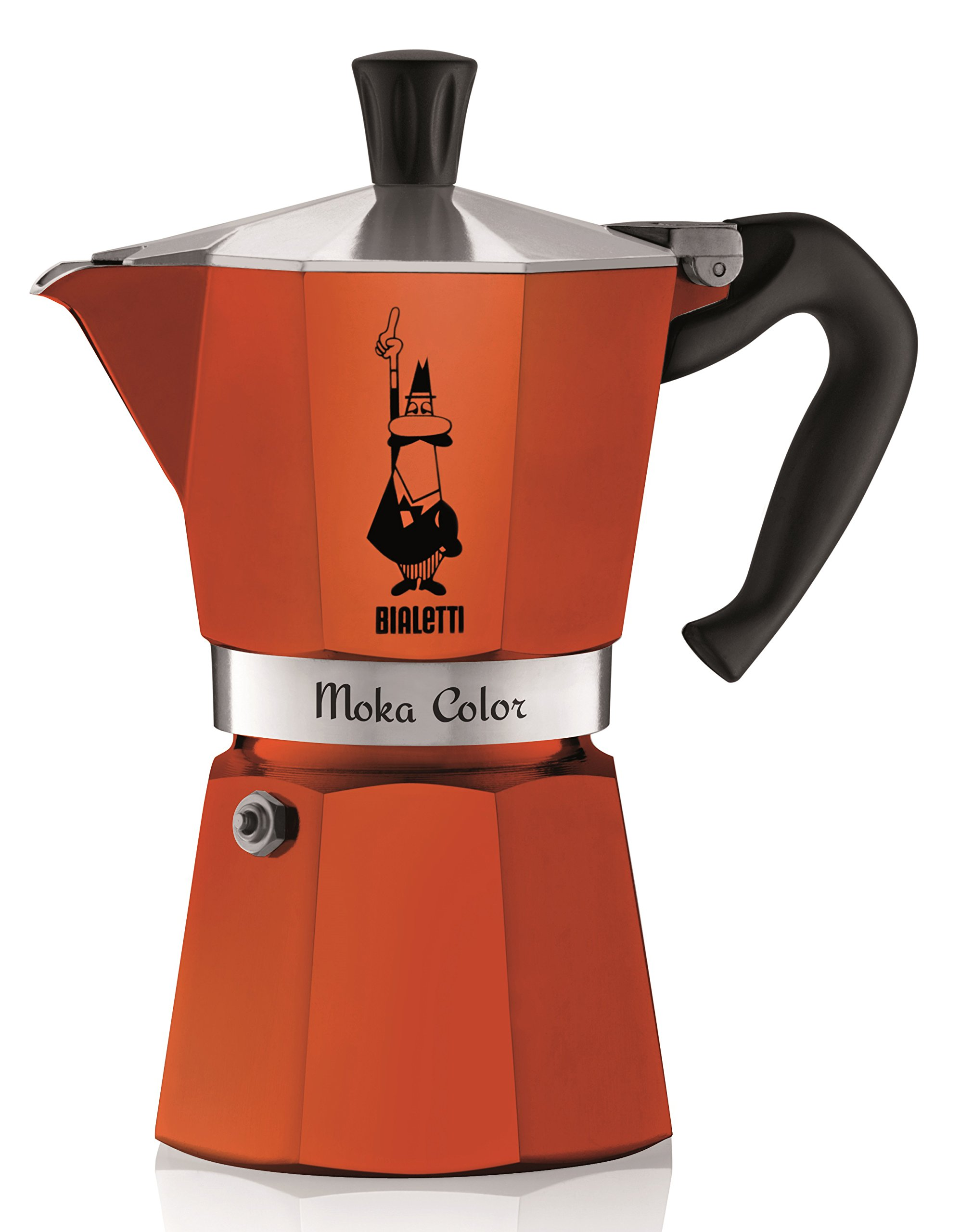 Bialetti 06906 6-Cup Espresso Coffee Maker, Orange