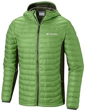 Columbia Powder Lite Light Hooded - Chaqueta híbrida con capucha, Hombre, Verde (spring
