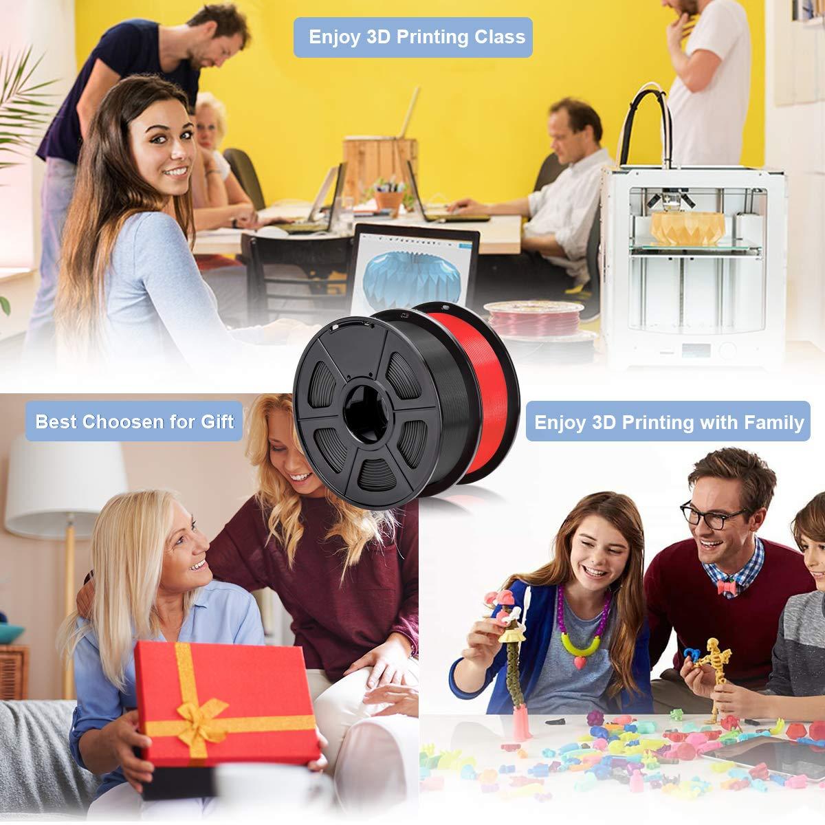 PLA+ + Transparent PLA Black SUNLU PLA Plus Filament 1.75mm 3D Printer 3D Pens 2KG PLA+ Filament +//- 0.02 mm