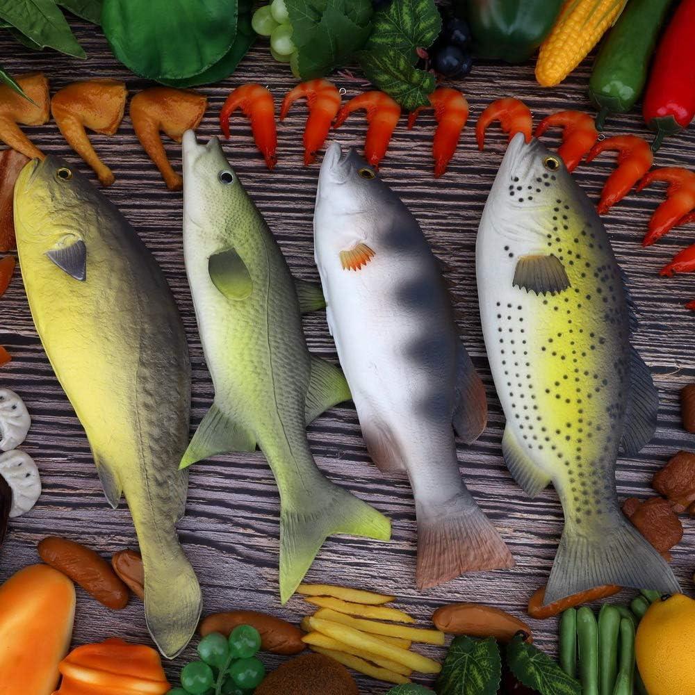 Gresorth 4 pi/èces Faux Poisson Ornement Artificiel Aliments Mod/èle D/écoration Accueil F/ête Jardin Cuisine Boutique Afficher