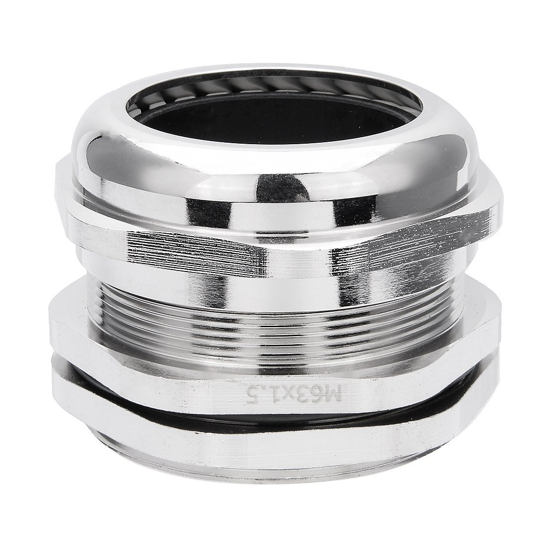 sourcingmap Cable Gland M40 Metal Waterproof Cable Glands Joints Adjustable Connector for 22-30mm Dia Wire Range