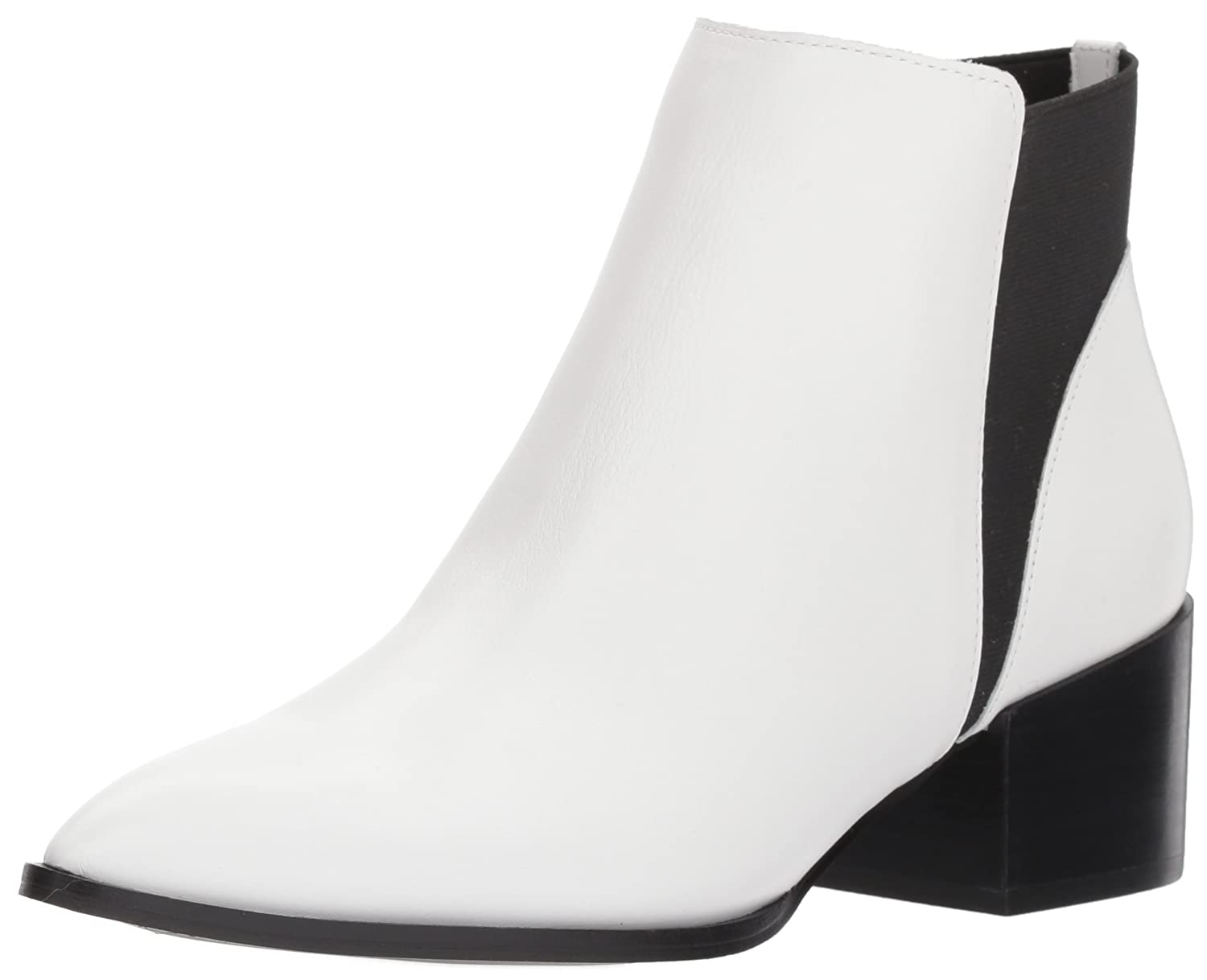 Chinese Laundry Women's Finn Ankle Bootie B075ZPL4S3 6.5 B(M) US|White Leather