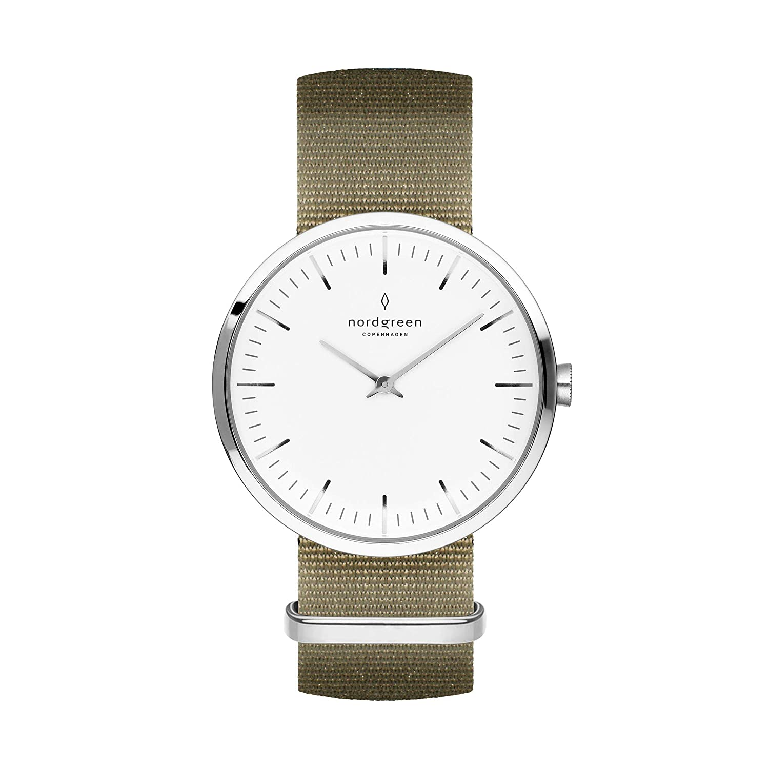 Nordgreen Unisex Infinity Scandinavian Silver Analog Watch with Mesh Or Leather Strap 10042