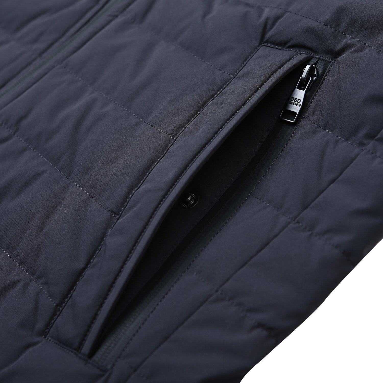 BOSIDENG Men's Winter Goose Down Jacket Light Warm Hooded Long Smart Casual Business Outerwear(185/100A 8056) by BOSIDENG (Image #3)