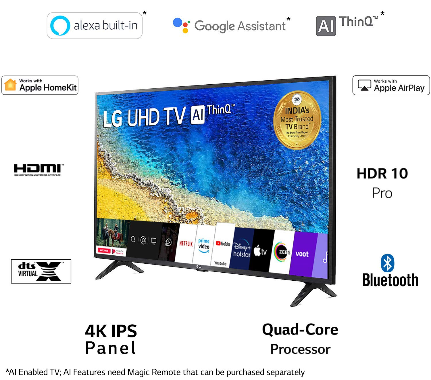 LG 139 cm (55 inches) 4K UHD Smart LED TV