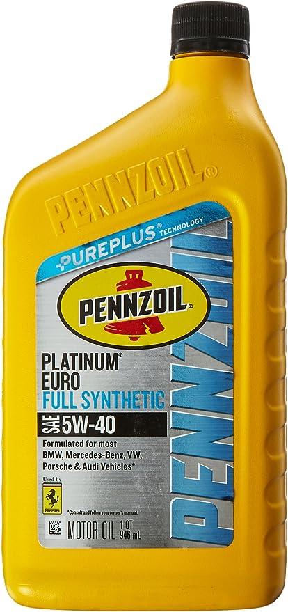 Pennzoil Near Me >> Pennzoil Platinum Euro Full Synthetic 5w 40 Motor Oil 1 Quart Single Pack
