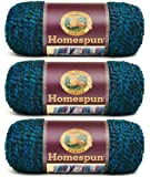 Bulk Buy: Lion Brand Homespun Yarn (3-Pack) Lagoon 790-404