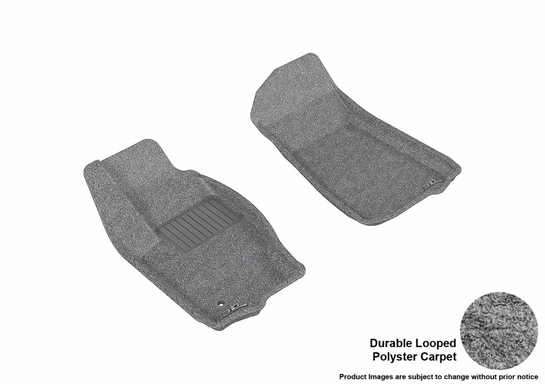 3D MAXpider Complete Set Custom Fit Floor Mat for Select Jeep Grand Cherokee Models Classic Carpet Black L1JP00102209