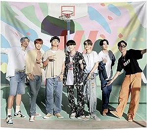 MANCCO BTS Tapestry Korean Idol Bangtan Boys Boy Wall Hanging Background for Living Room Bedroom Dorm Decor